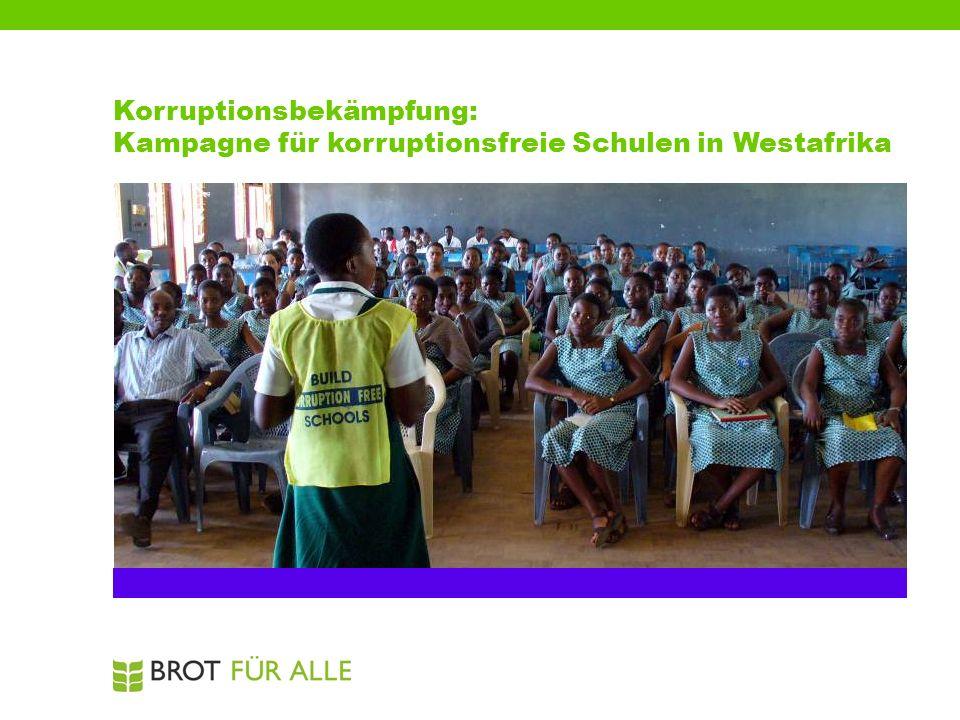 Korruptionsbekämpfung: Kampagne für korruptionsfreie Schulen in Westafrika