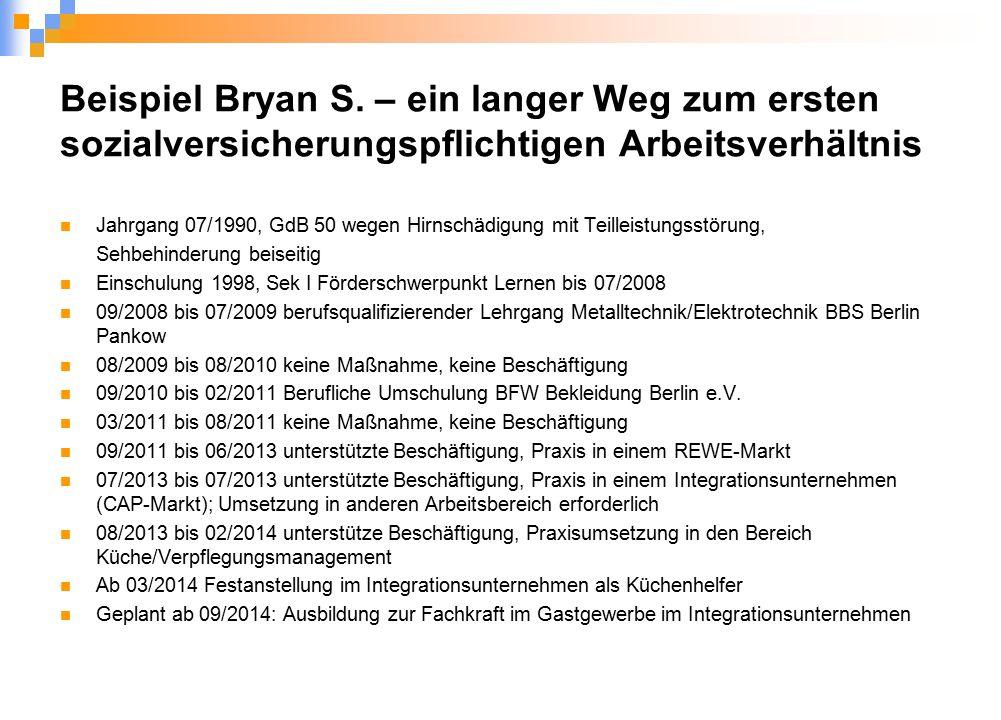 Beispiel Bryan S.