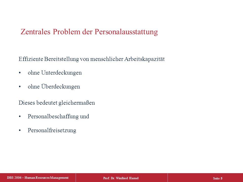 Prof. Dr. Winfried Hamel DBS 2006 – Human Resources Management Seite 26 one step further