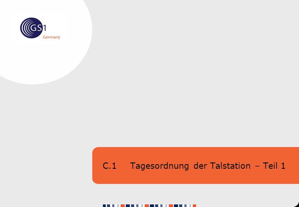 C.1 Tagesordnung der Talstation – Teil 1