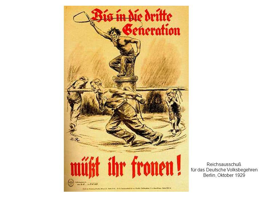 Reichsausschuß für das Deutsche Volksbegehren Berlin, Oktober 1929