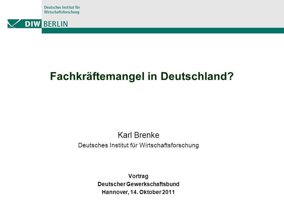 Fachkräftemangel in Deutschland.
