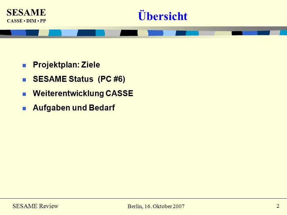 SESAME CASSE DIM PP 23 SESAME Review Berlin, 16.