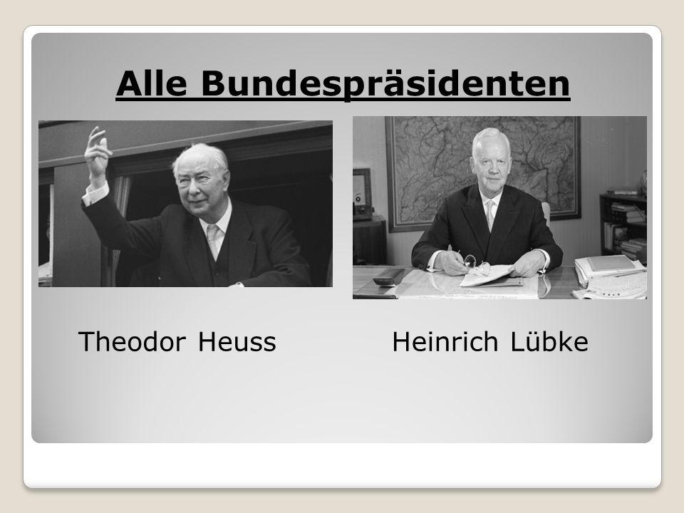 Alle Bundespräsidenten Theodor HeussHeinrich Lübke