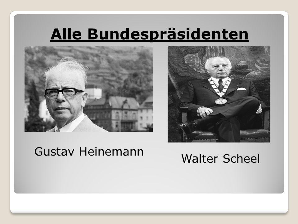Alle Bundespräsidenten Gustav Heinemann Walter Scheel