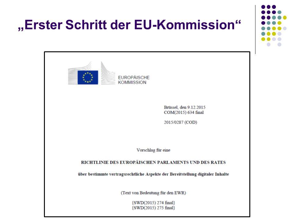 """""""Erster Schritt der EU-Kommission"""