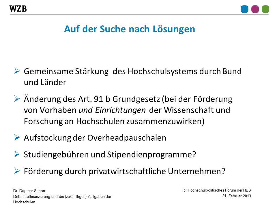 5. Hochschulpolitisches Forum der HBS 21. Februar 2013 Dr.