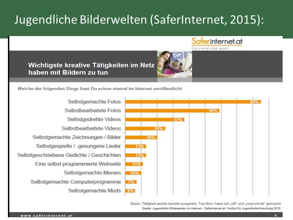 Jugendliche Bilderwelten (SaferInternet, 2015):