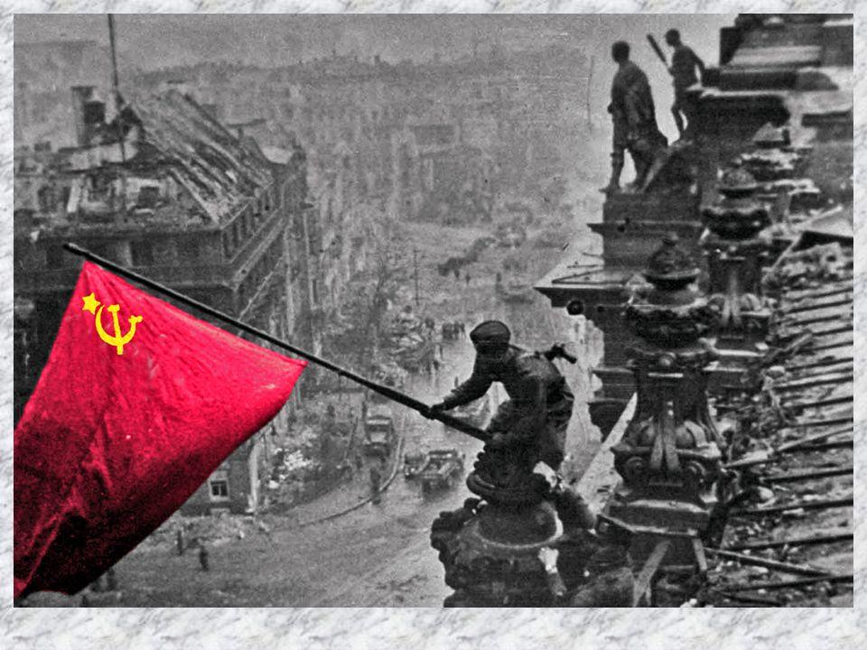 Die rote Fahne wurde am 2. Mai am Reichstagsgebäude gehisst