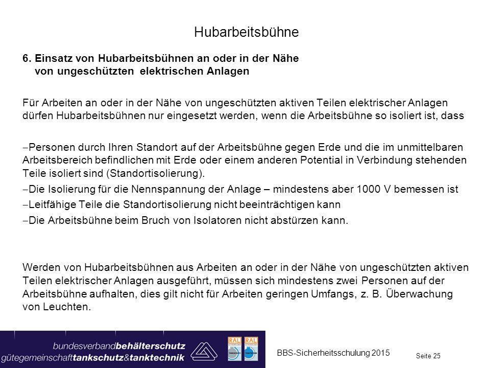 Hubarbeitsbühne 6.