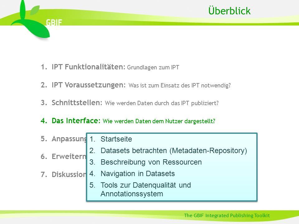 1.IPT Funktionalitäten: Grundlagen zum IPT 2.IPT Voraussetzungen: Was ist zum Einsatz des IPT notwendig? 3.Schnittstellen: Wie werden Daten durch das
