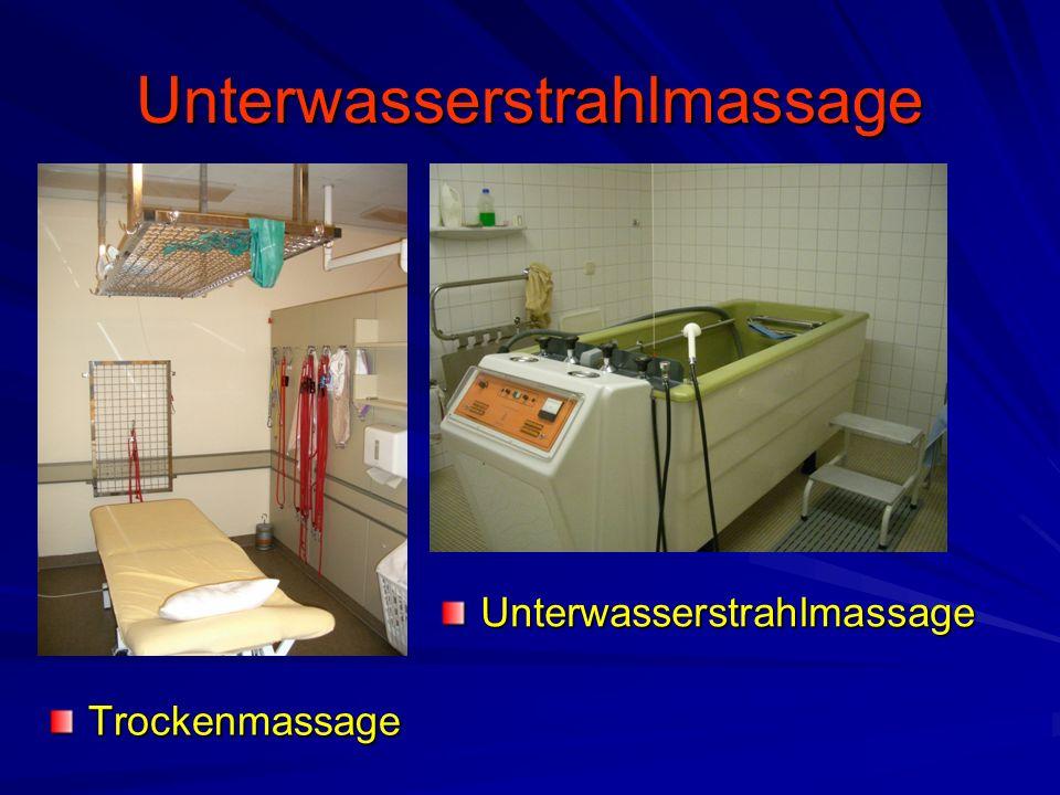 Unterwasserstrahlmassage Trockenmassage Unterwasserstrahlmassage
