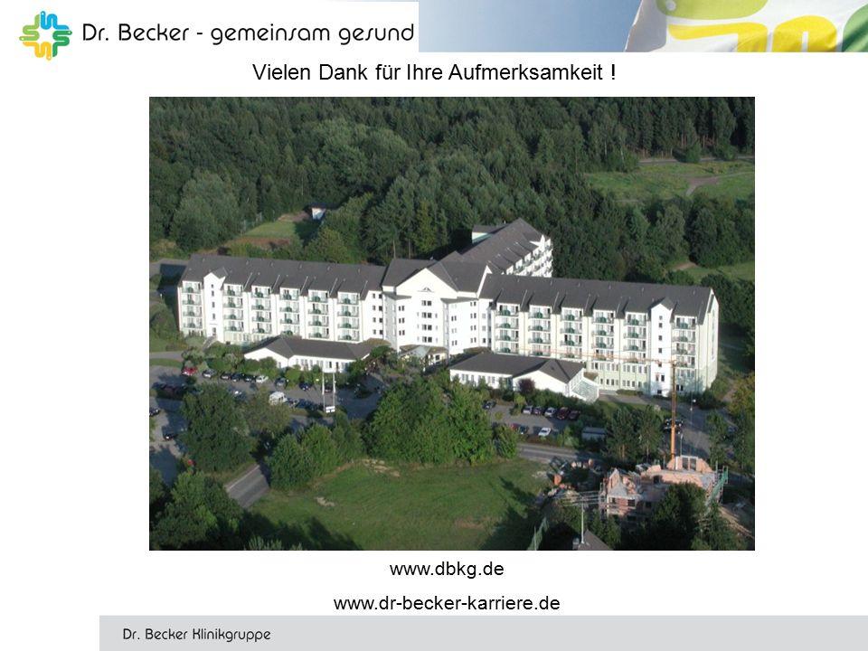 Vielen Dank für Ihre Aufmerksamkeit ! www.dbkg.de www.dr-becker-karriere.de