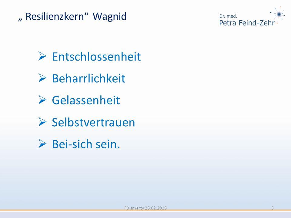 """"""" Resilienzkern"""" Wagnid  Entschlossenheit  Beharrlichkeit  Gelassenheit  Selbstvertrauen  Bei-sich sein. FB smarty 26.02.20163"""