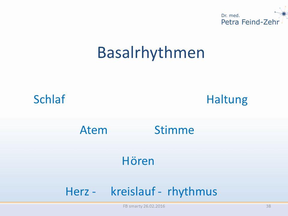 Basalrhythmen SchlafHaltung Atem Stimme H ören Herz - kreislauf - rhythmus FB smarty 26.02.201638