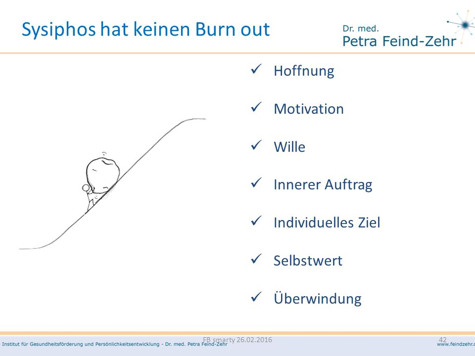 Hoffnung Motivation Wille Innerer Auftrag Individuelles Ziel Selbstwert Überwindung Sysiphos hat keinen Burn out FB smarty 26.02.201642