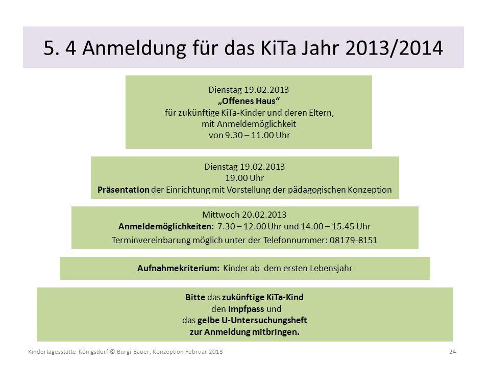Kindertagesstätte Königsdorf © Burgi Bauer, Konzeption Februar 2013 24 5.