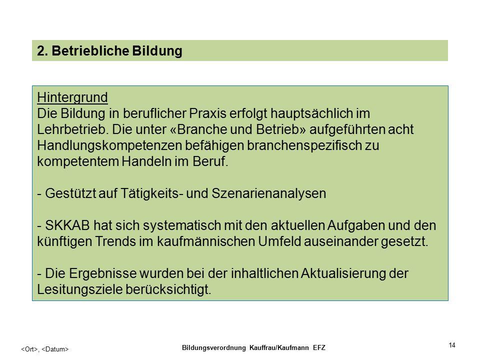 14, Bildungsverordnung Kauffrau/Kaufmann EFZ 2.