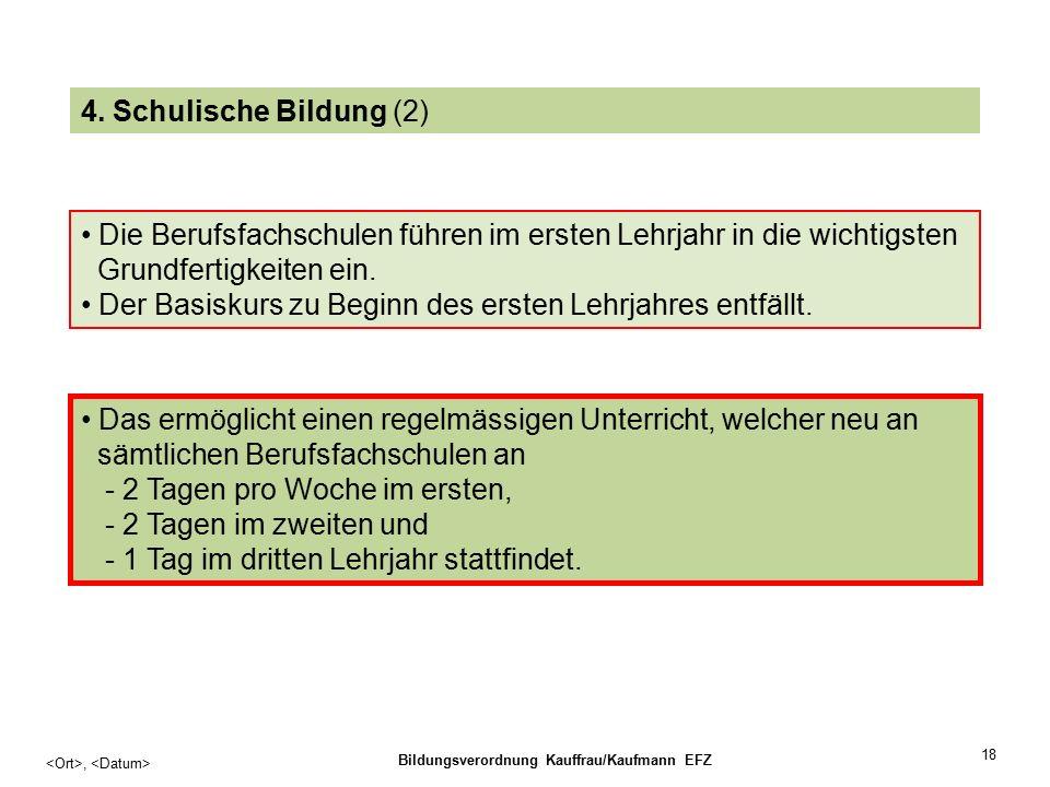 18, Bildungsverordnung Kauffrau/Kaufmann EFZ 4.