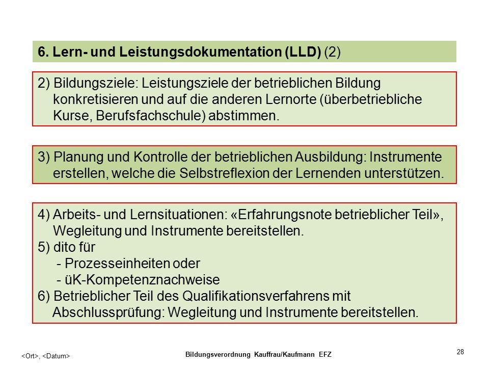 28, Bildungsverordnung Kauffrau/Kaufmann EFZ 6.