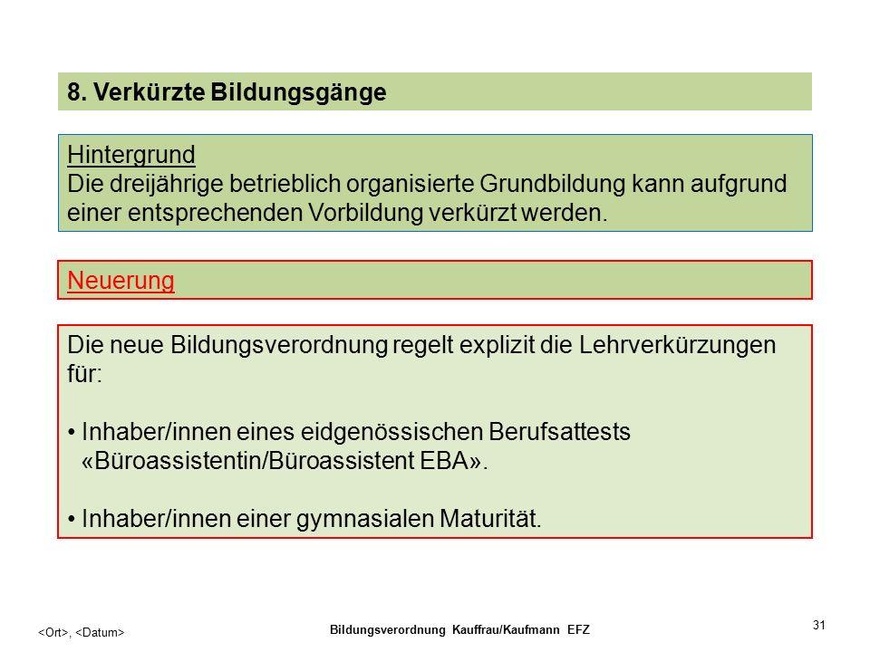 31, Bildungsverordnung Kauffrau/Kaufmann EFZ 8.