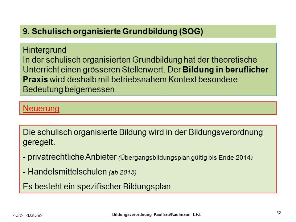 32, Bildungsverordnung Kauffrau/Kaufmann EFZ 9.