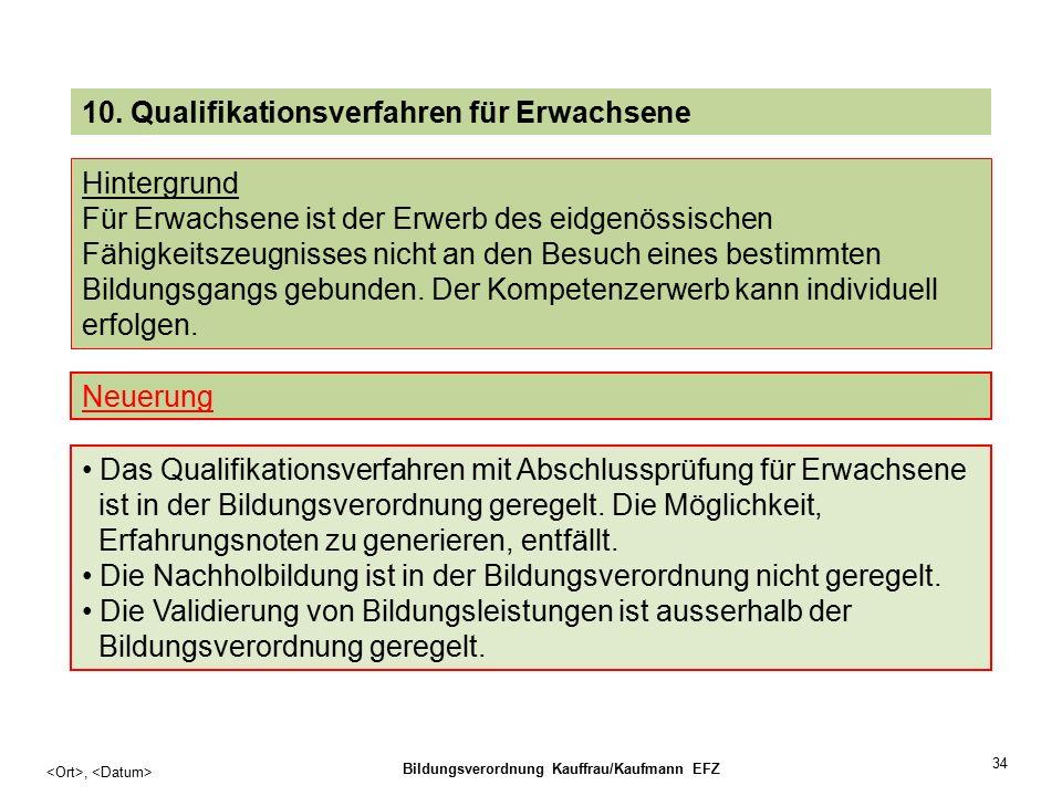 34, Bildungsverordnung Kauffrau/Kaufmann EFZ 10.