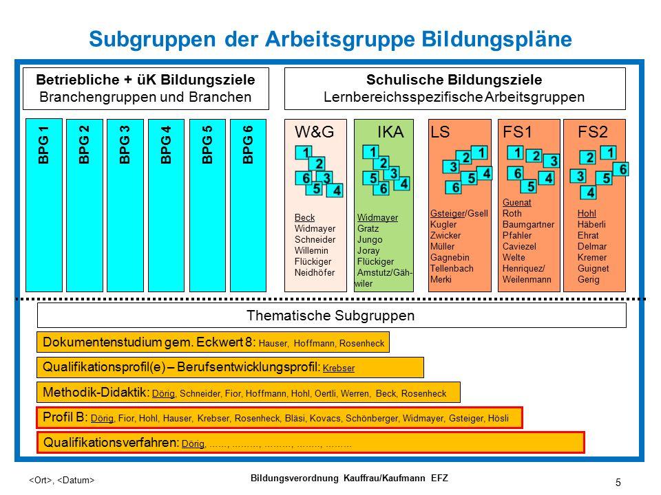 26, Bildungsverordnung Kauffrau/Kaufmann EFZ 5.