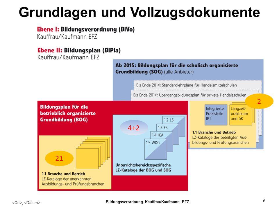 9 Grundlagen und Vollzugsdokumente, Bildungsverordnung Kauffrau/Kaufmann EFZ 21 4+2 2