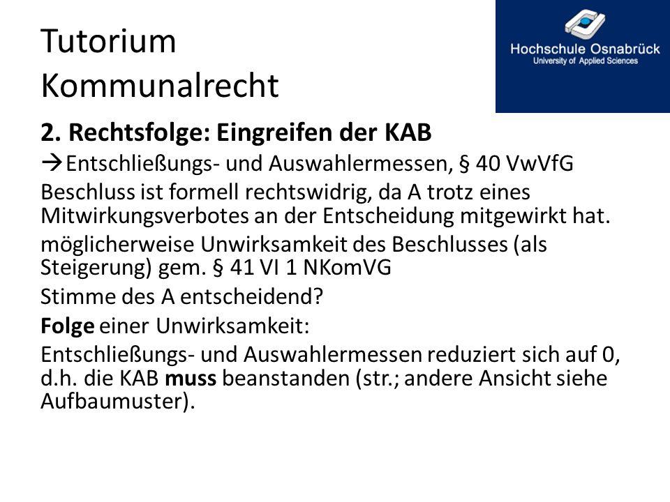 Tutorium Kommunalrecht 2.