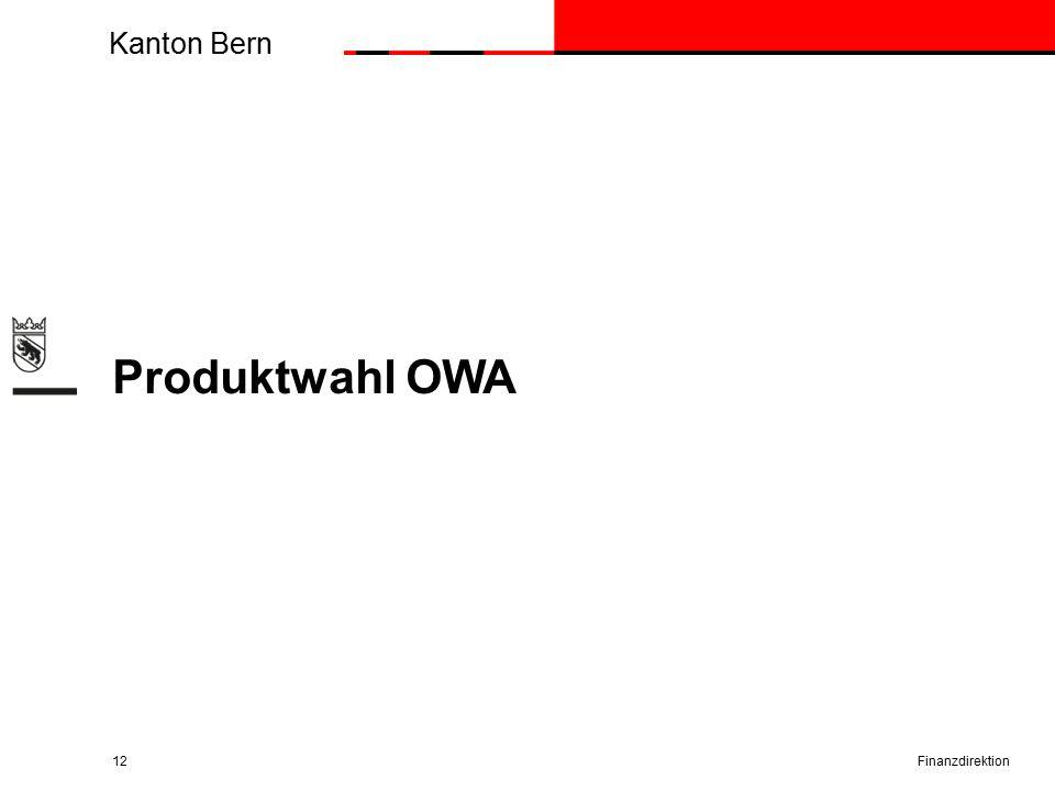 Kanton Bern Produktwahl OWA Finanzdirektion12