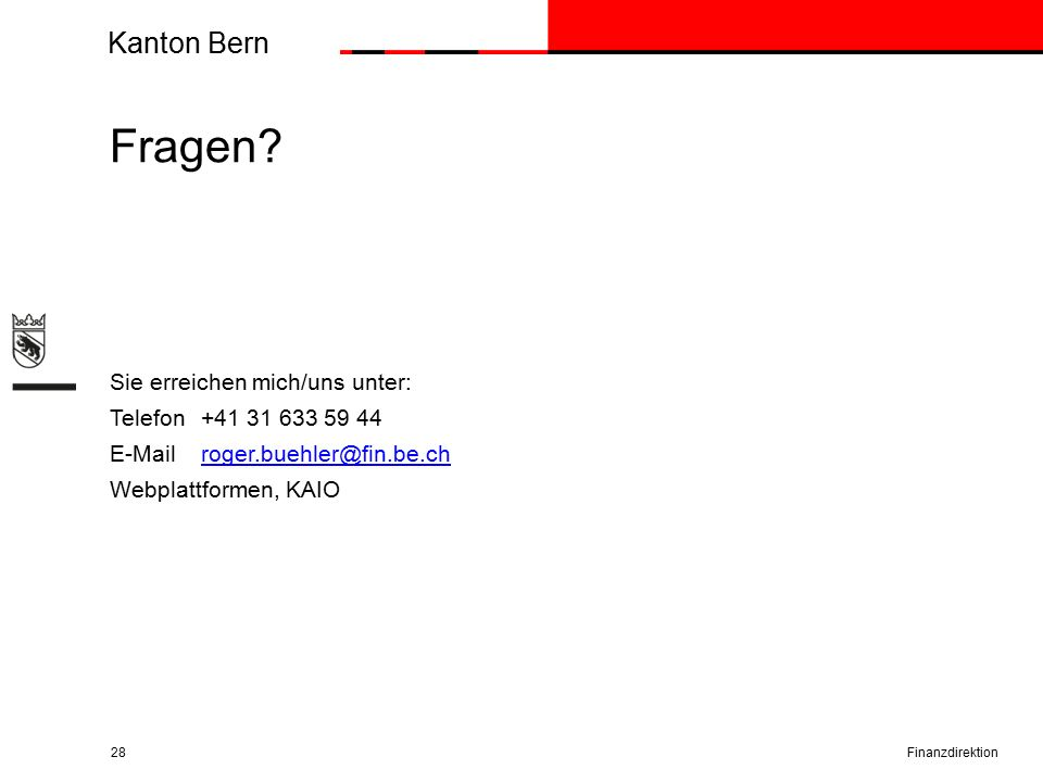 Kanton Bern Fragen.