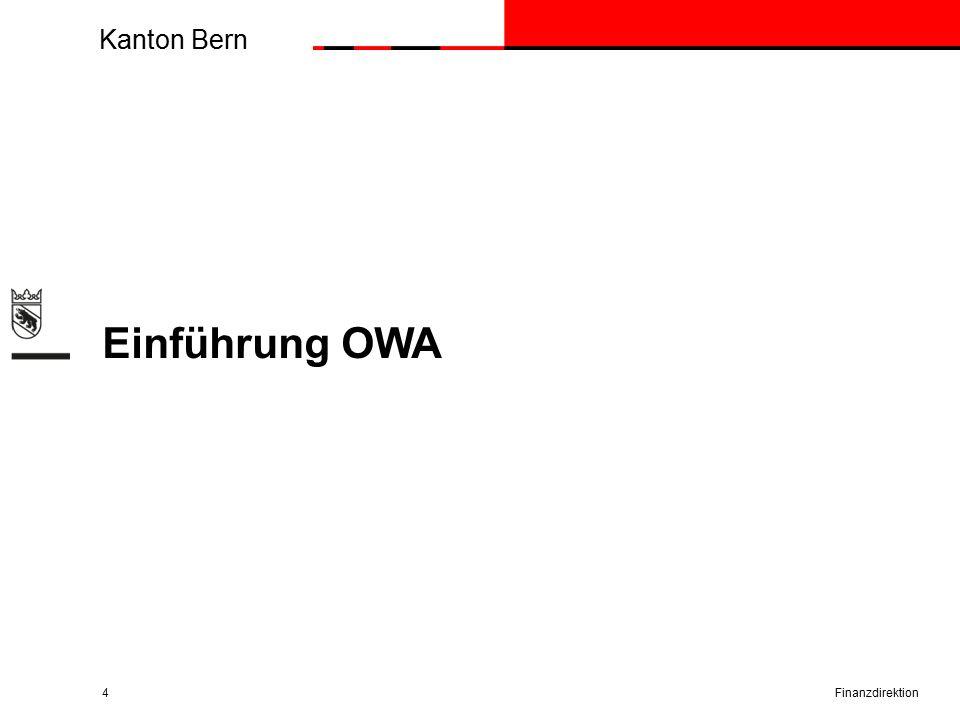 Kanton Bern Einführung OWA Finanzdirektion4
