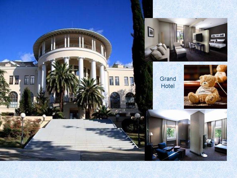 """Sehr berühmt ist das Sanatorium """"Rodina Jetzt wurde es in Grand Hotel umbenannt."""