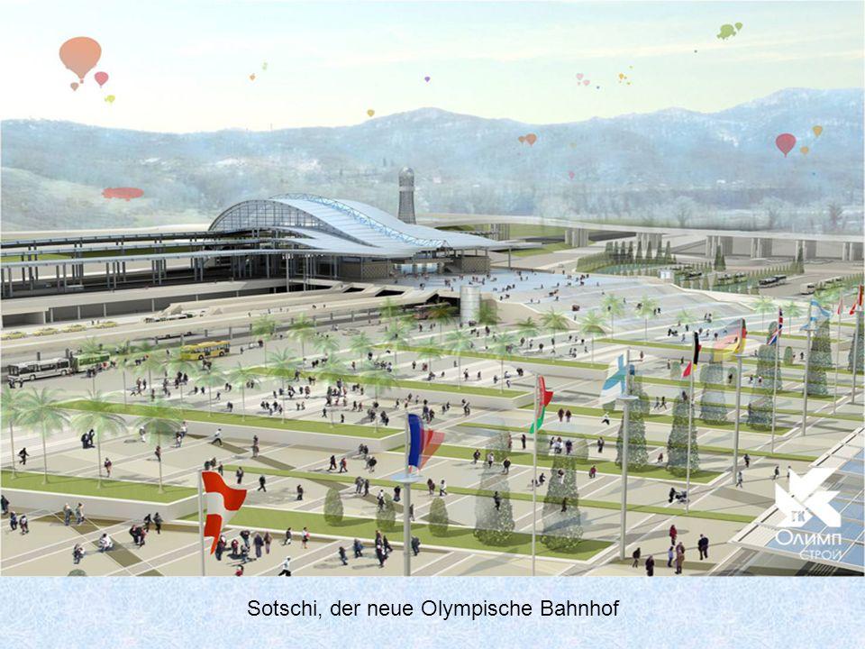 die Baustelle des neuen Bahnhofs.