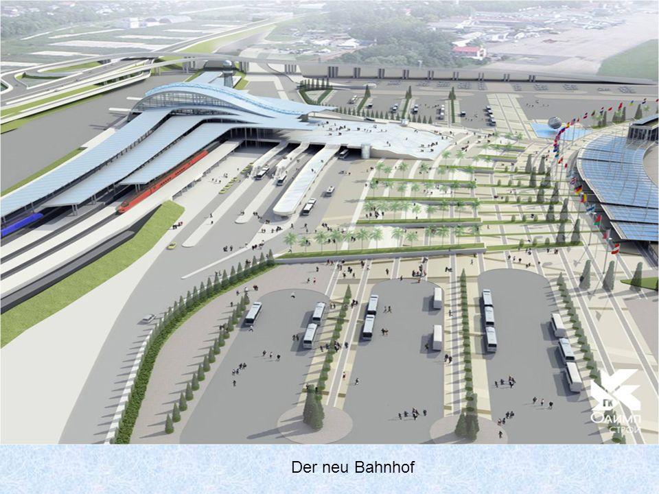Sotschi, der neue Olympische Bahnhof