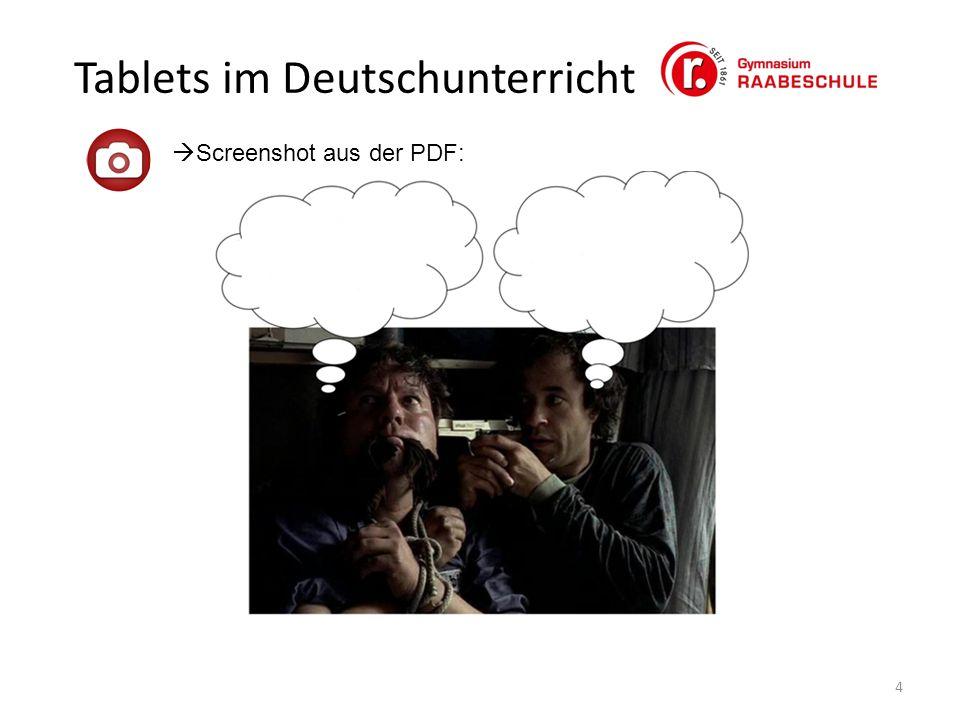 Tablets im Deutschunterricht 4  Screenshot aus der PDF: