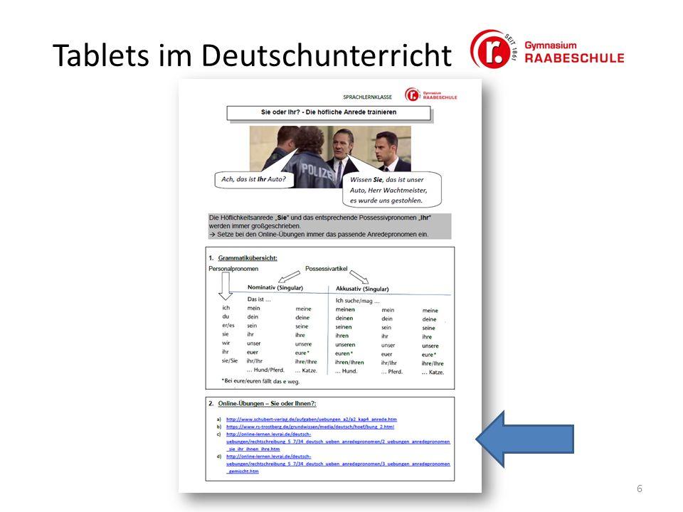 Tablets im Deutschunterricht 6