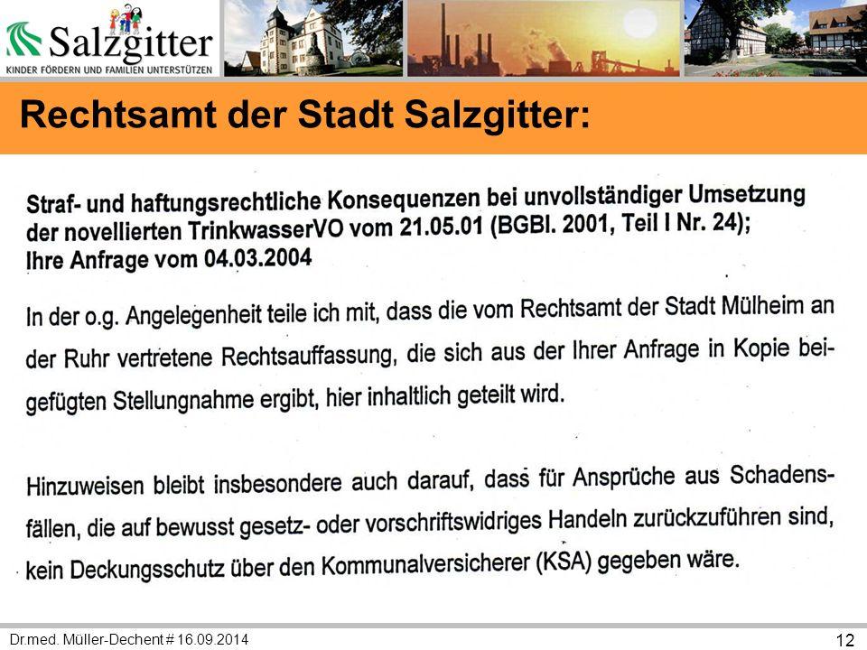 Dr.med. Müller-Dechent # 16.09.2014 12 Rechtsamt der Stadt Salzgitter: