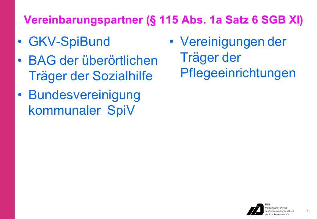 Vereinbarungspartner (§ 115 Abs.
