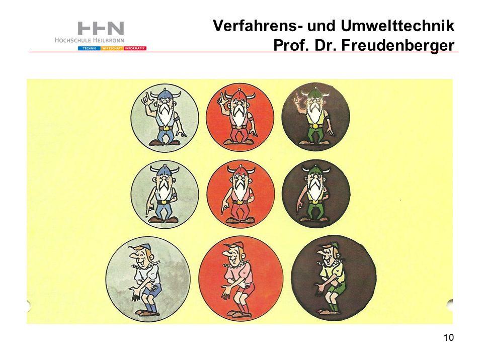 10 Verfahrens- und Umwelttechnik Prof. Dr. Freudenberger