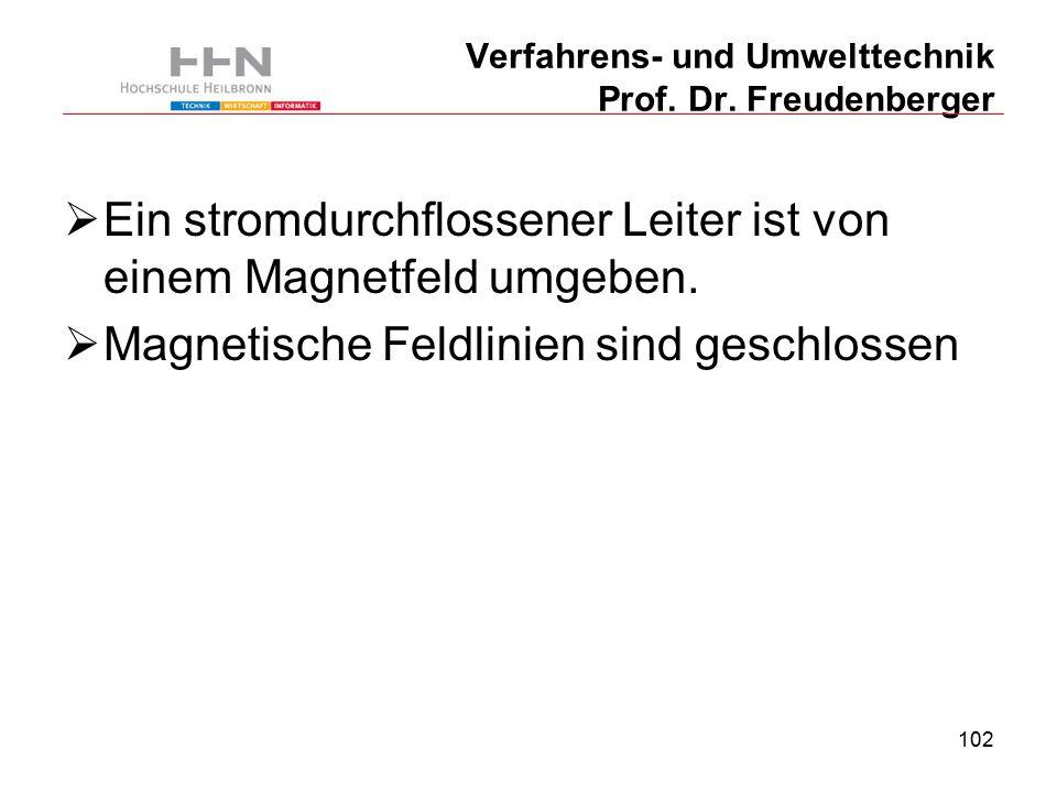 102 Verfahrens- und Umwelttechnik Prof. Dr.