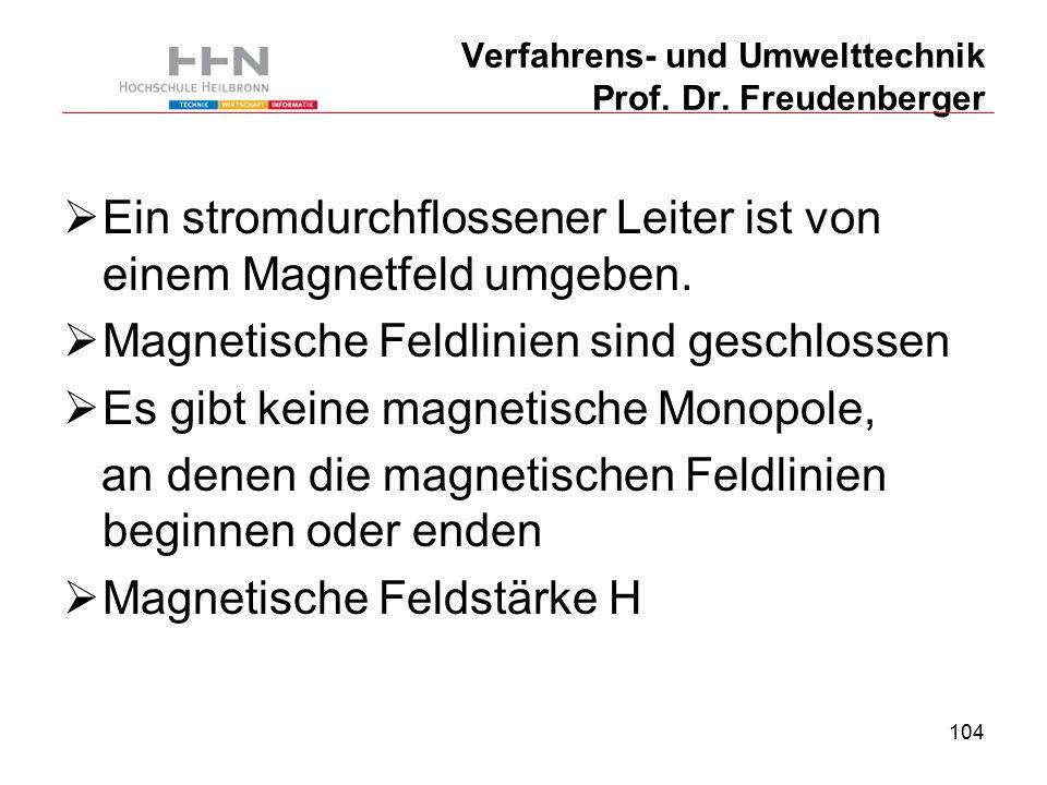 104 Verfahrens- und Umwelttechnik Prof. Dr.