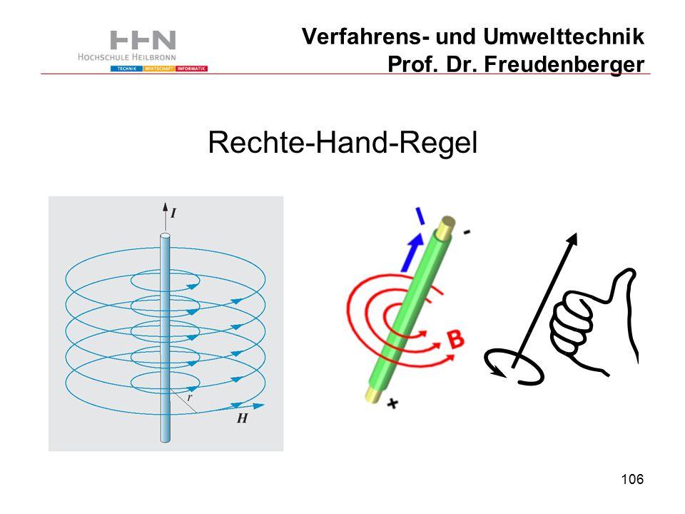 106 Verfahrens- und Umwelttechnik Prof. Dr. Freudenberger Rechte-Hand-Regel