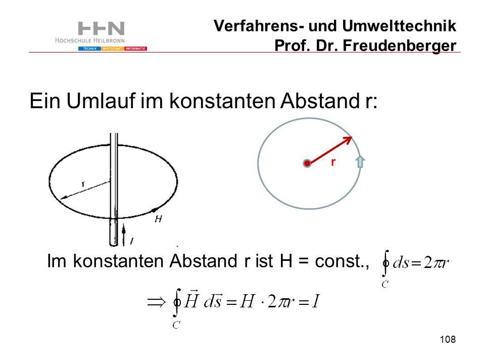 108 Verfahrens- und Umwelttechnik Prof. Dr.