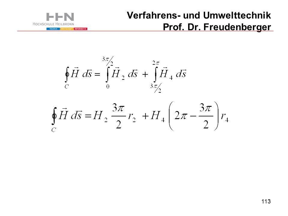 113 Verfahrens- und Umwelttechnik Prof. Dr. Freudenberger