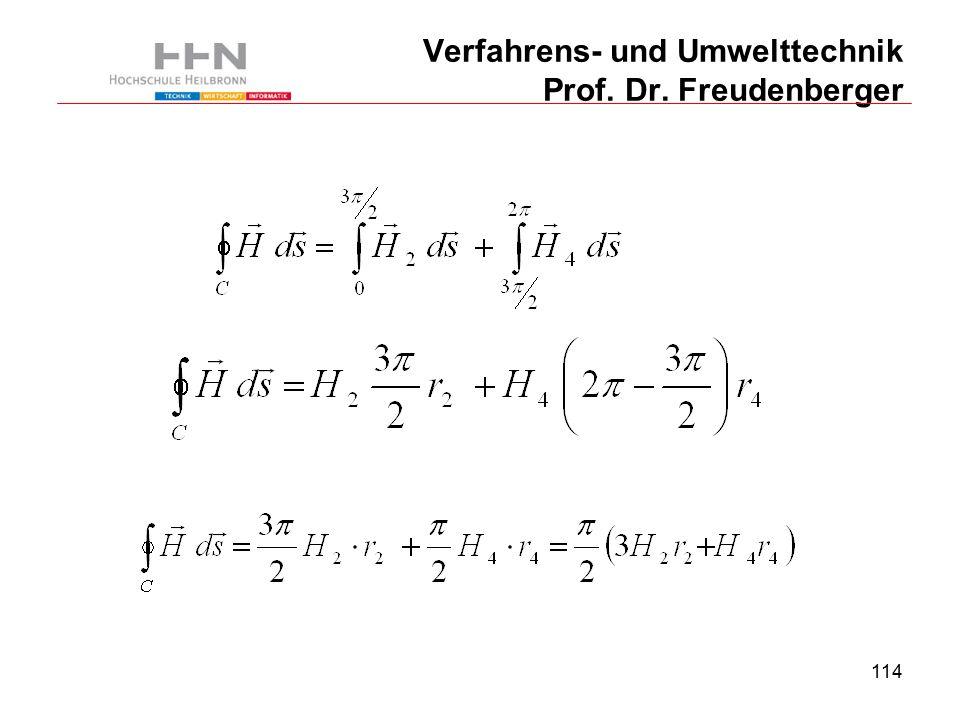 114 Verfahrens- und Umwelttechnik Prof. Dr. Freudenberger