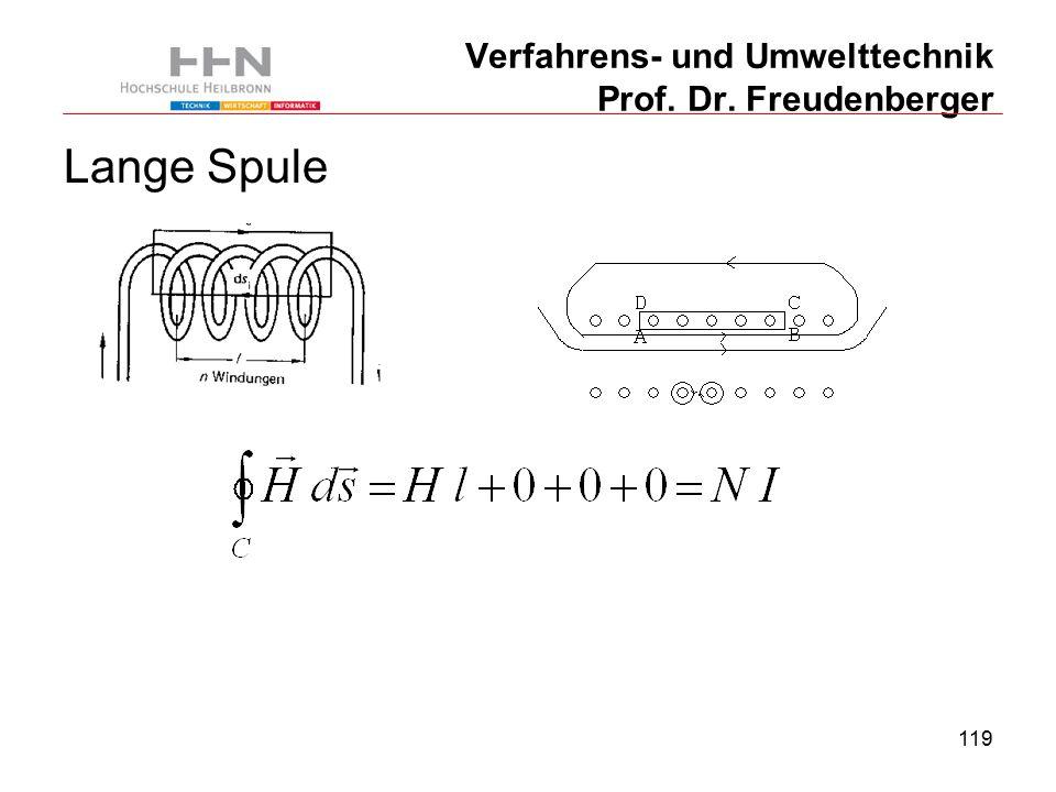 119 Verfahrens- und Umwelttechnik Prof. Dr. Freudenberger Lange Spule