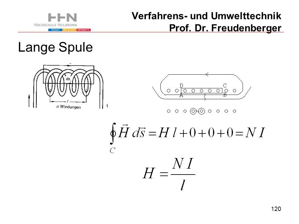 120 Verfahrens- und Umwelttechnik Prof. Dr. Freudenberger Lange Spule