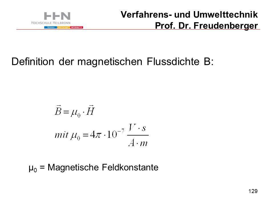 129 Verfahrens- und Umwelttechnik Prof. Dr.
